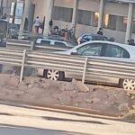 Accidente en el bulevar provocado por auto robado.