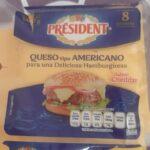Encuentra vidrios en el queso amarillo marca president comprado en soriana de Zacatecas.