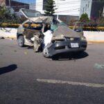 Fatal accidente sobre tránsito pesado en Zacatecas, entre un quinta rueda y un auto compacto