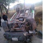 Camioneta se vuelca en camino antiguo a Amoxocitl, Juchipila: Zacatecas.