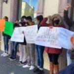 Protestan por despido injustificado en coppel Guadalupe,