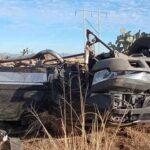 Familia de migrantes sufre accidente en Río Grande Zacatecas.