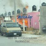 ⚠️Se incendia auto y casa en La Comarca: Guadalupe, Zacatecas.⚠️