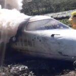 🚨Se desploma avión de la Guardia Nacional antes de aterrizar: Xalapa, Veracruz🚨