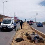 ⛔Elemento de PEP cae de su motocicleta y es llevado al hospital.⛔