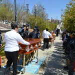 Despiden a las 4 policías asesinados en Villa de Cos Zacatecas.