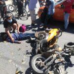 🚨Menores se accidentan mientras viajaban en una motoneta.🚨
