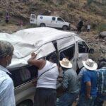 Familia de guanajuatenses sufre volcadura en NIEVES.