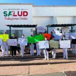 La secretaría de salud de Zacatecas despide a enfermera suplentes con un vil mensaje de WhatsApp.