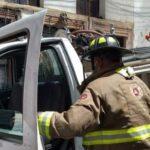 Se registra incendio en una casa habitacion del centro historico