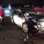 Mujer sufre lesiones por accidente vehicular