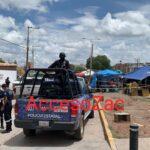 ATACAN A BALAZOS A POLICIA Y SU FAMILIA EN EL TIANGUIS DE LA VIALIDAD ARROYO DE LA PLATA EN GUADALUPE.